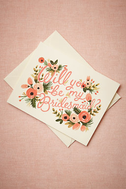 3. You can write your girls a letter with this super flowery card from  BHLDN.