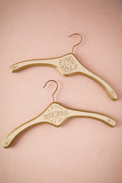 5. These hangers are absolutely gorgeous! You can also continue to use them after the wedding as well (Score!). Another lovely item from  BHLDN.