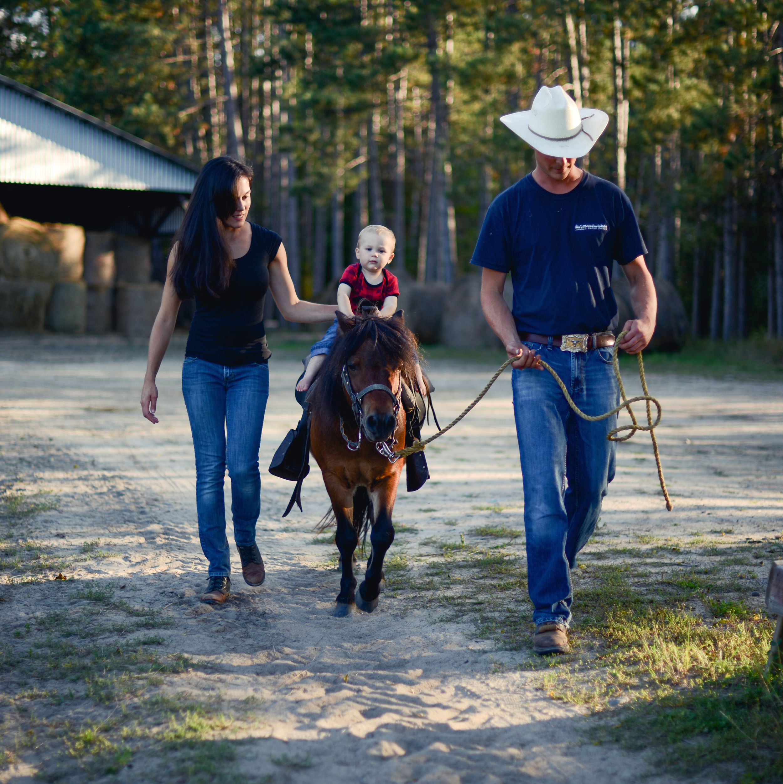 Pony Rides   Lead your child around the large pond at the ranch on quiet, friendly ponies. This is a great way to introduce your child to horses and create memories that will last a lifetime.  See rates  HERE .