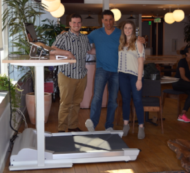 That's me in the middle with Charlotte and Gary, Community managers at WeWork.