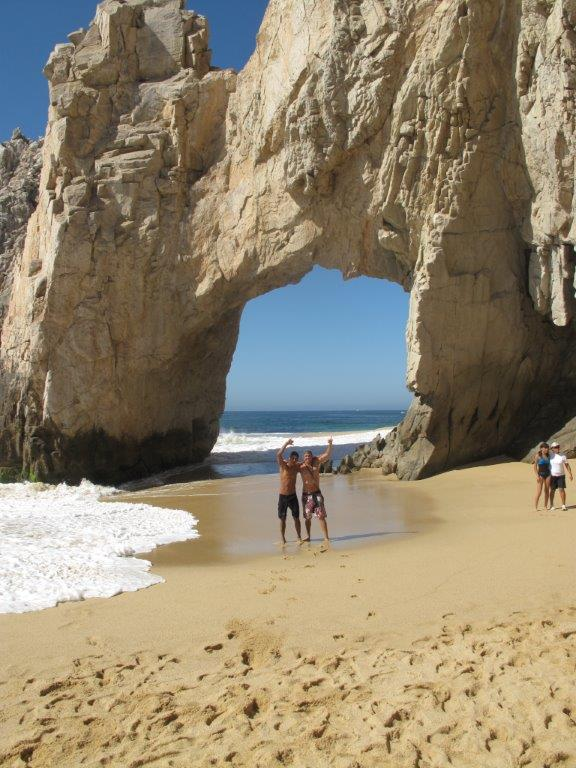 Under the arch at Lovers Beach