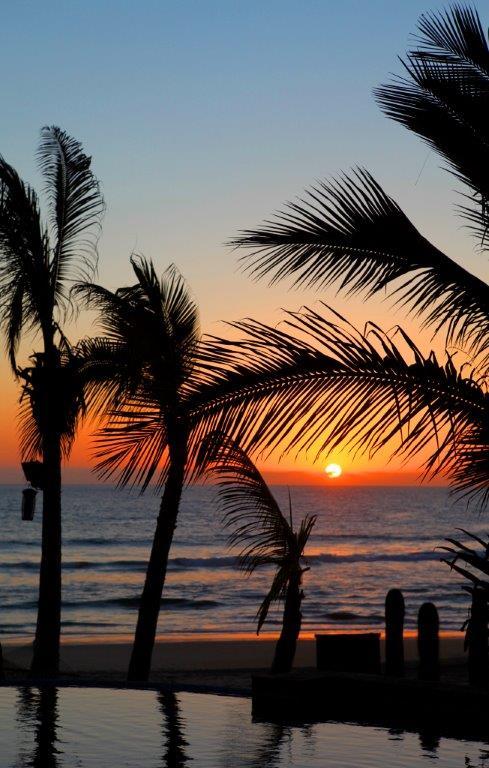 Beautiful sunset in Todos Santos