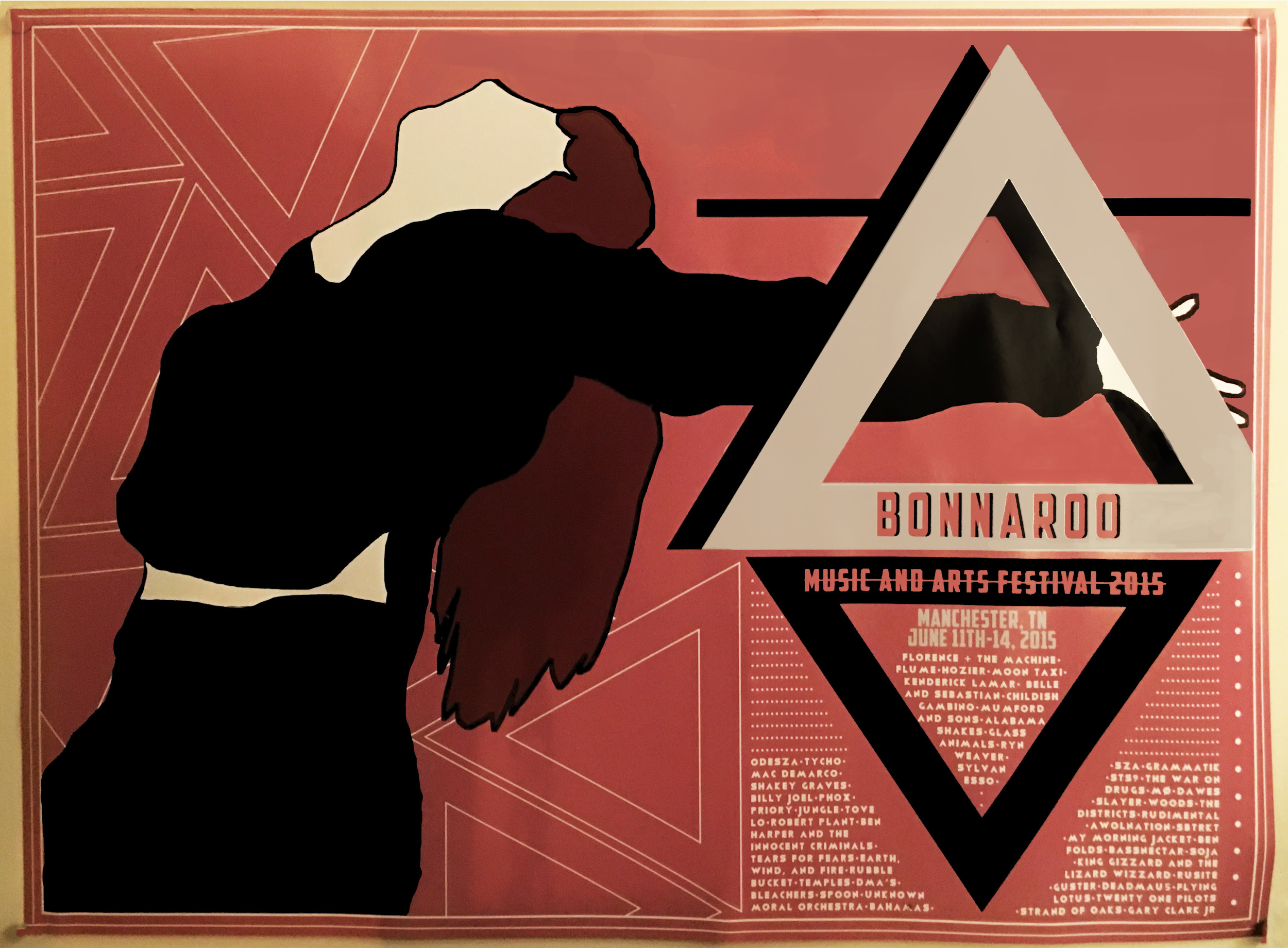 Portfolio Piece, Florence + The Machine Bonnaroo Fesitival Poster