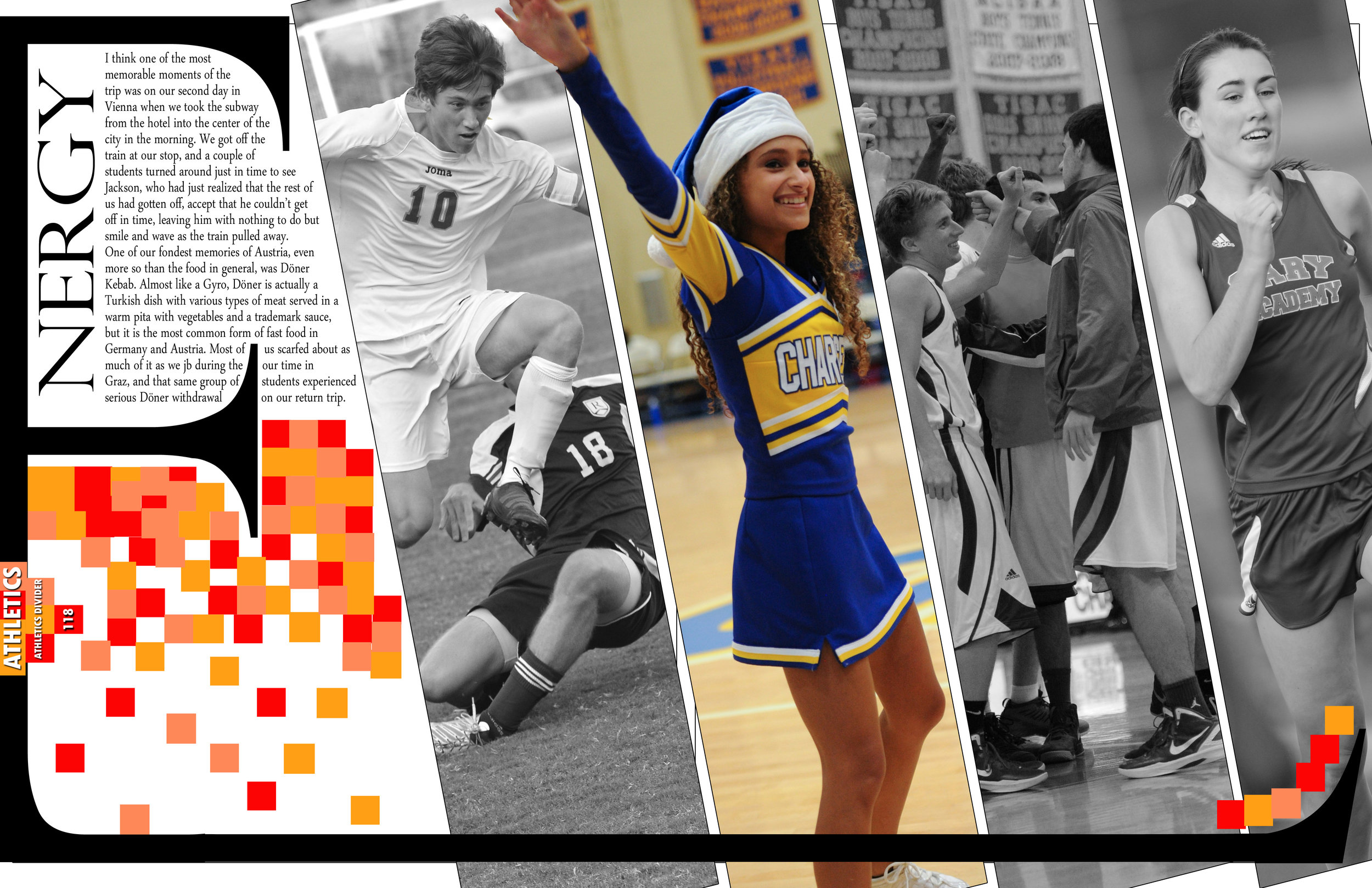 "Example Divider Spread for ""Stand Out"" Themed Yearbook"