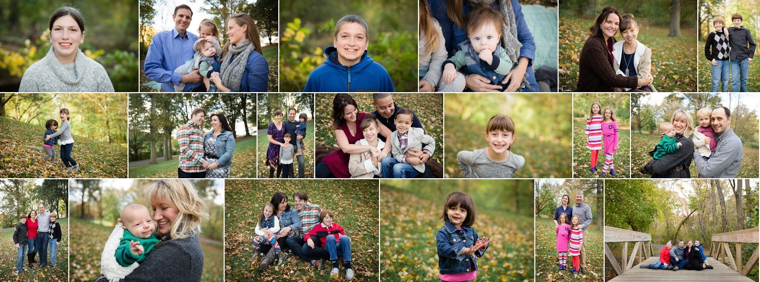 Fall family portraits in Maryland