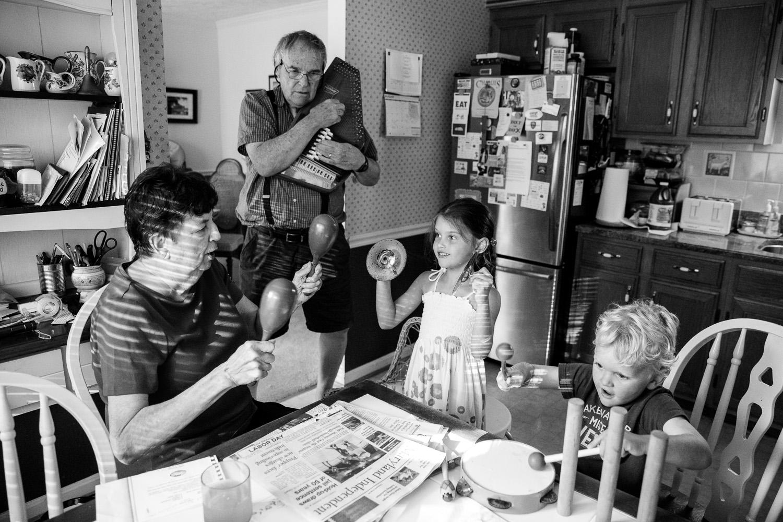 Making memories with the grandchildren.