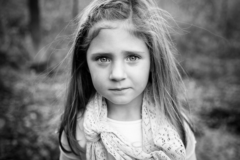 A portrait of a little girl