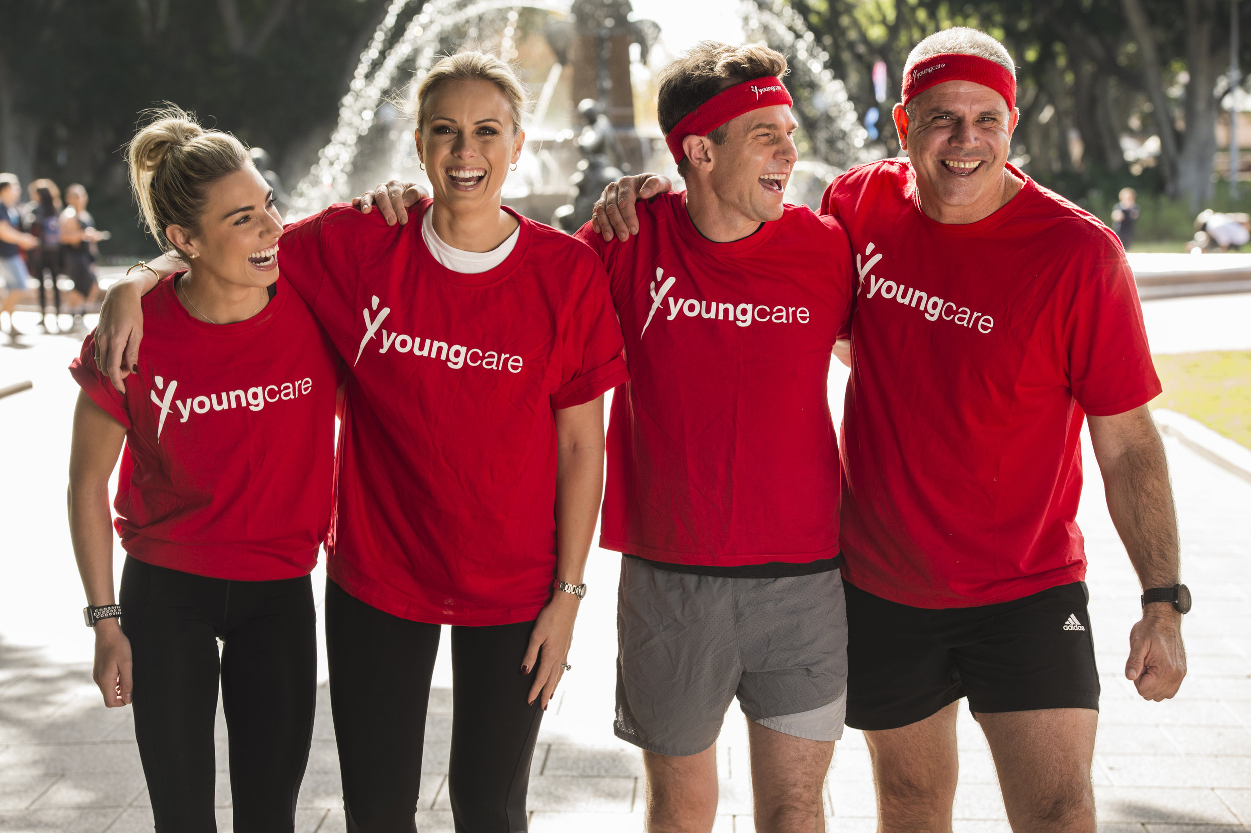 Pictured: Lauren Hannaford - A Wiggles dancer alumni, David Campbell - Australian Musician and TV presenter, and Anthony Ryan, - the CEO of Youngcare.