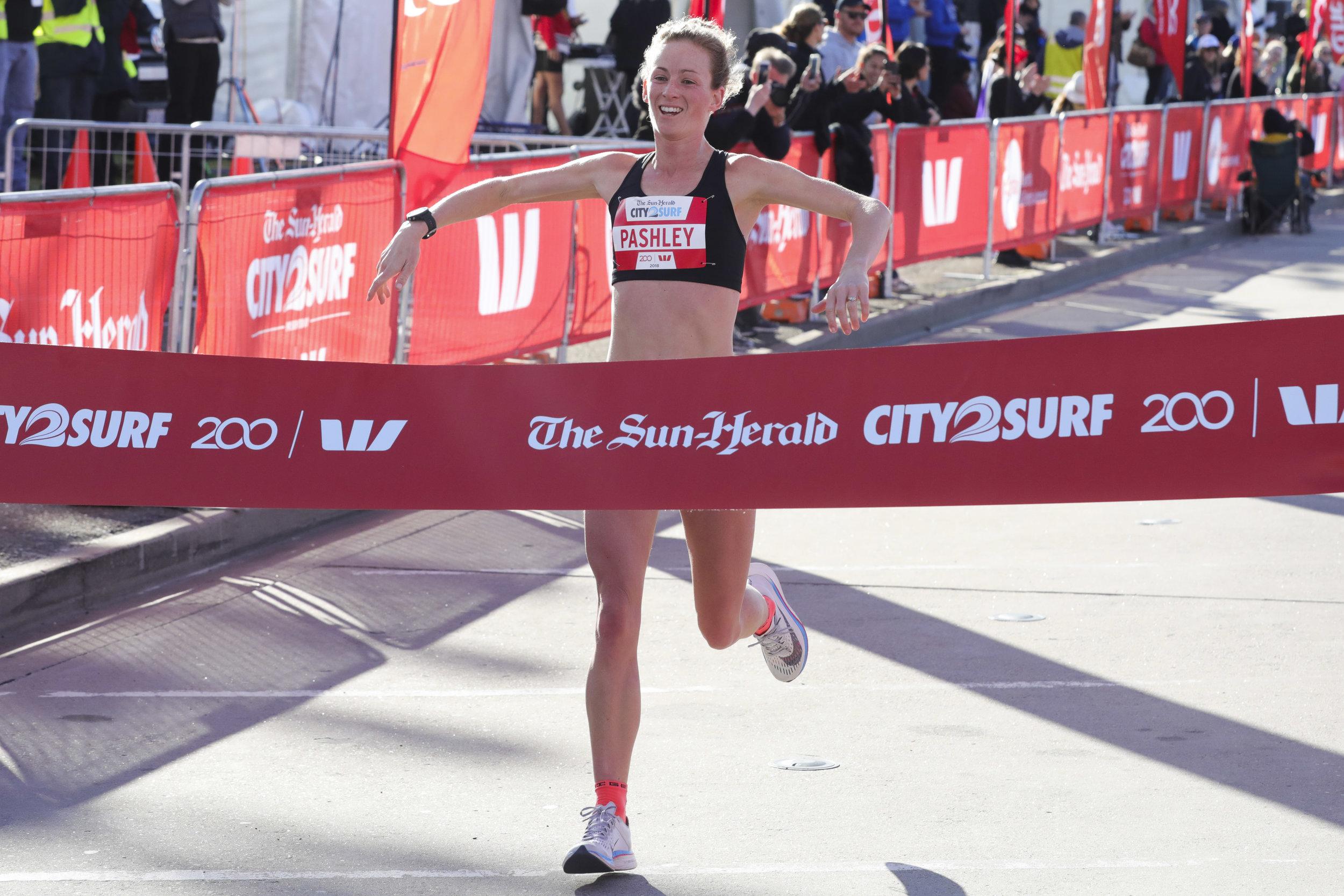 Ellie Pashley - 2018 City2Surf Female Winner