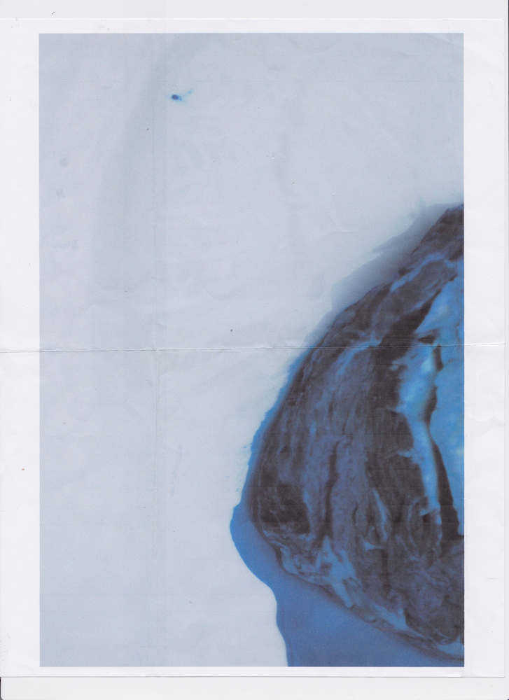 Documenting a steak I dyed blue Printed 2015 Scanned October 2018