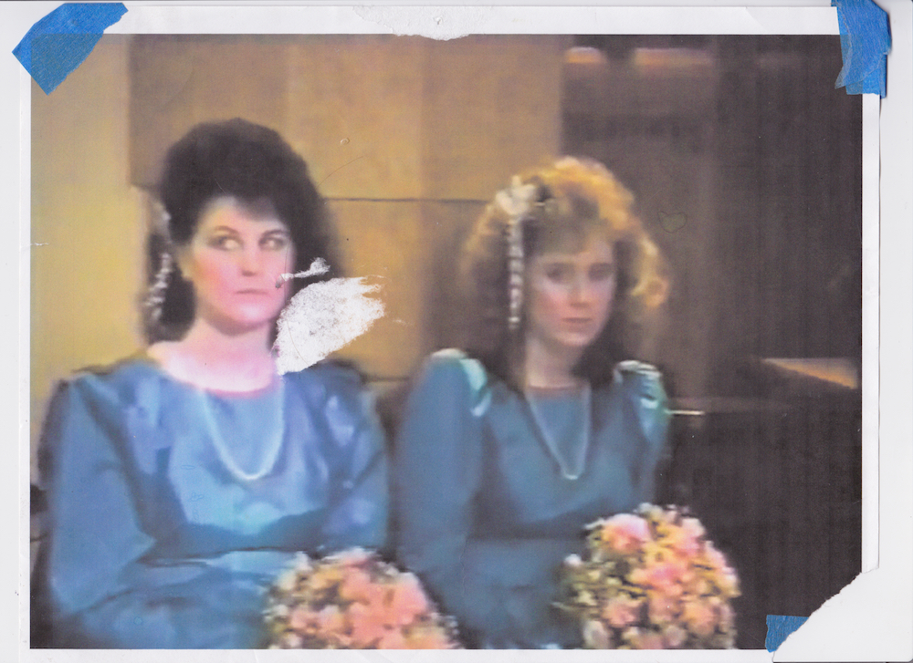 Still from Mom and Dads wedding video, printed December 2015 Scanned October 2018