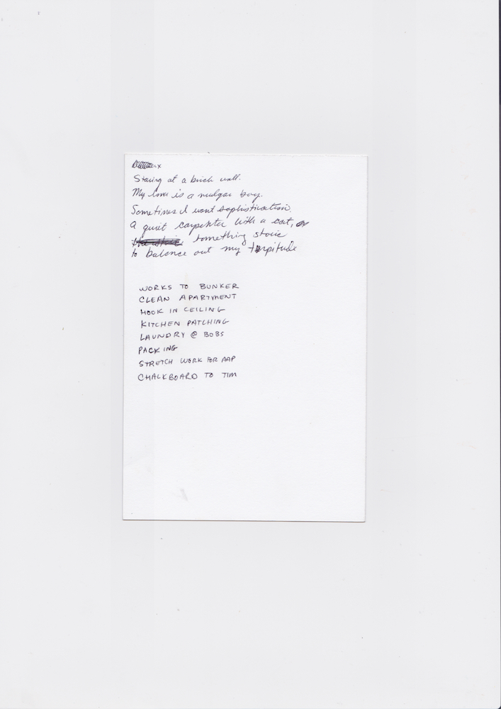 Poem/List, 2017 Scanned October 2018