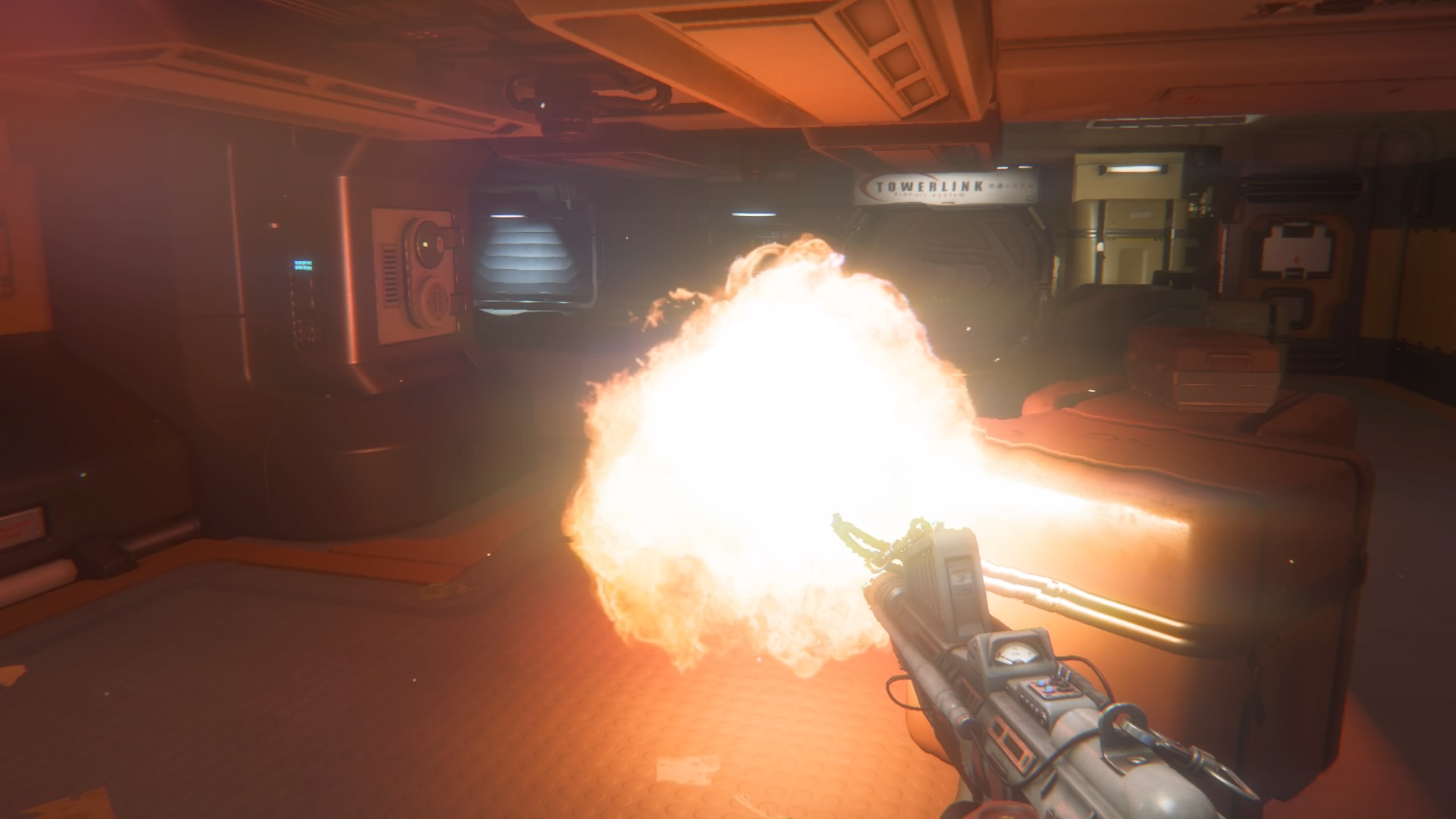 The flamethrower. This is the whip that tames the Xenomorph and allows you to begin learning it's behaviors effectively.