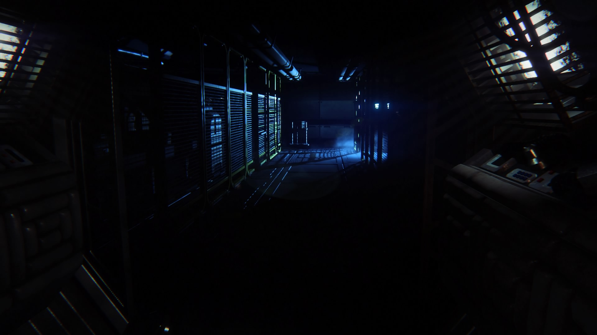 Lowering the brightness makes the station feel smaller and it makes you question every shadow and sound in crippling paranoia. More fear.
