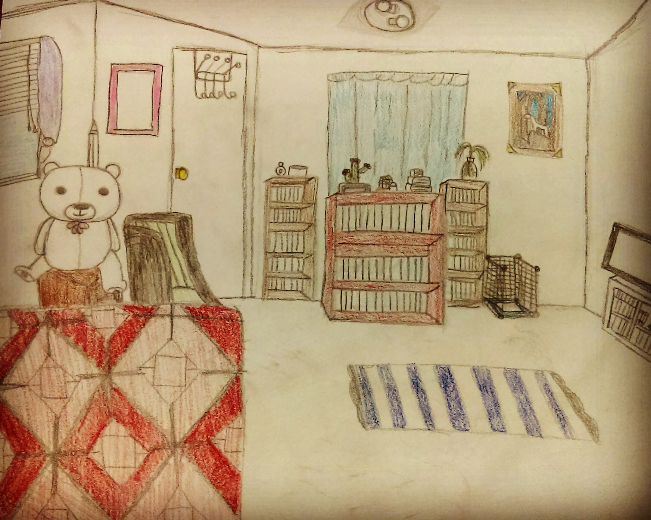 Bedroom drawing illustration art insta draw artwork
