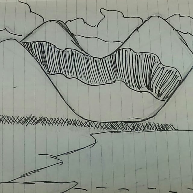 Old stuff landscape doodles artwork my art