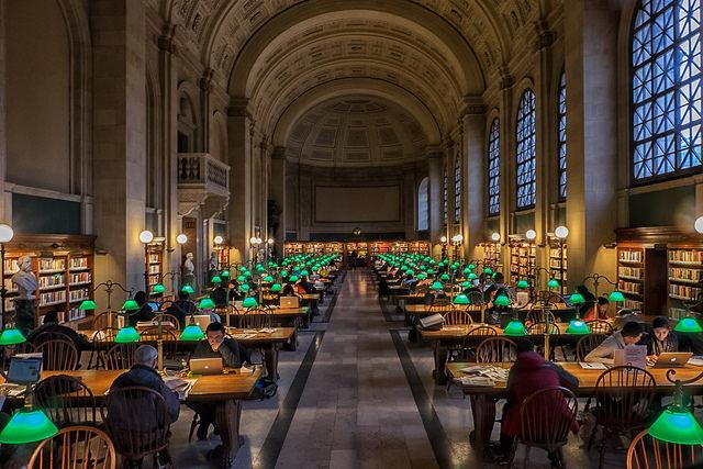 Boston Public Library. Photo via  Timothy Neesam on Flickr