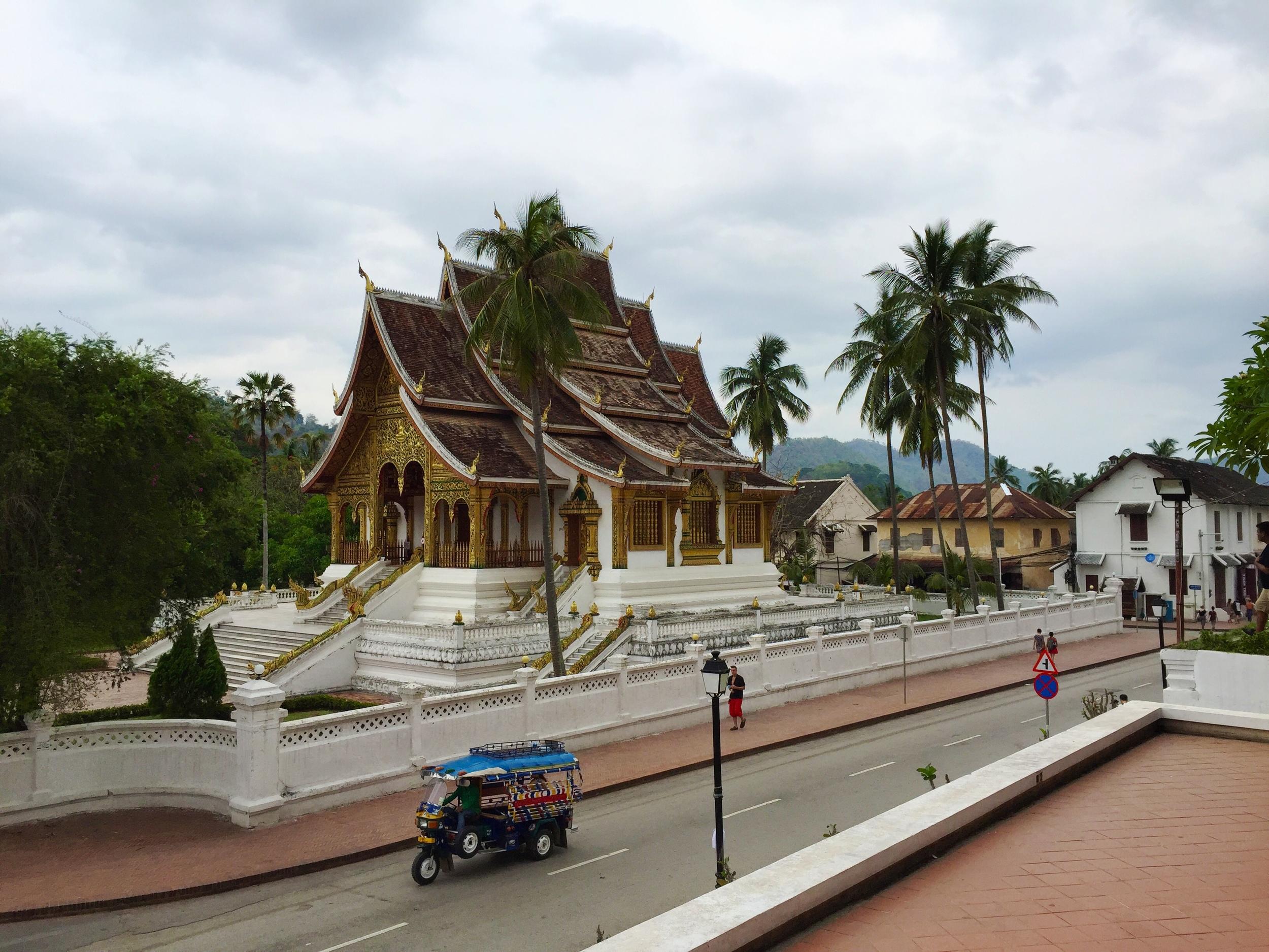 Laotian traffic jam