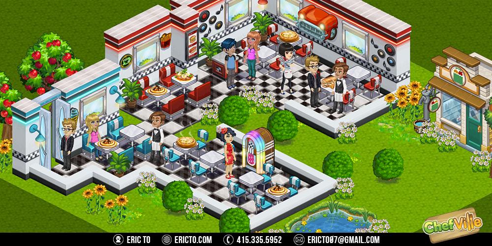 70's diner theme