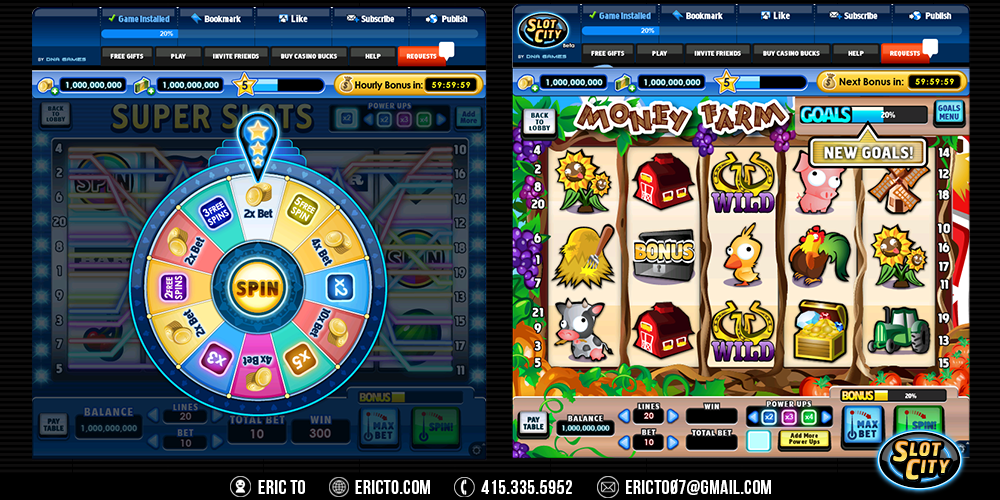 Daily spin wheel and farm theme for slots.
