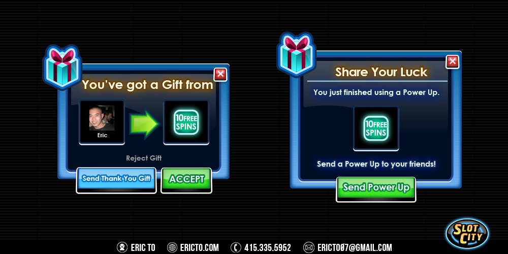 Gifting popups