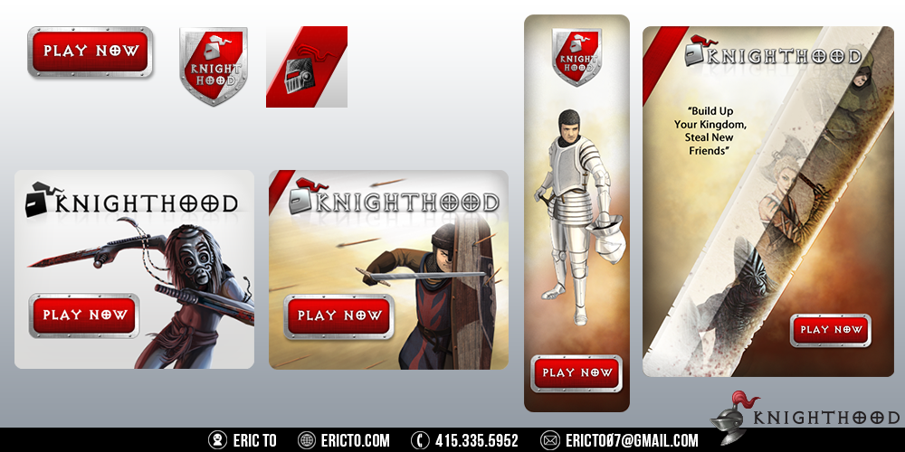 Various buttons, logos, and banners.