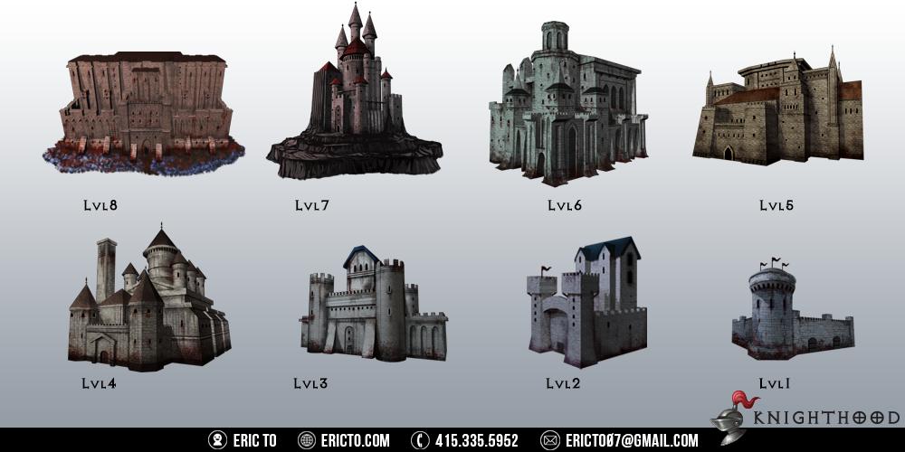 3D renders for enemy castles