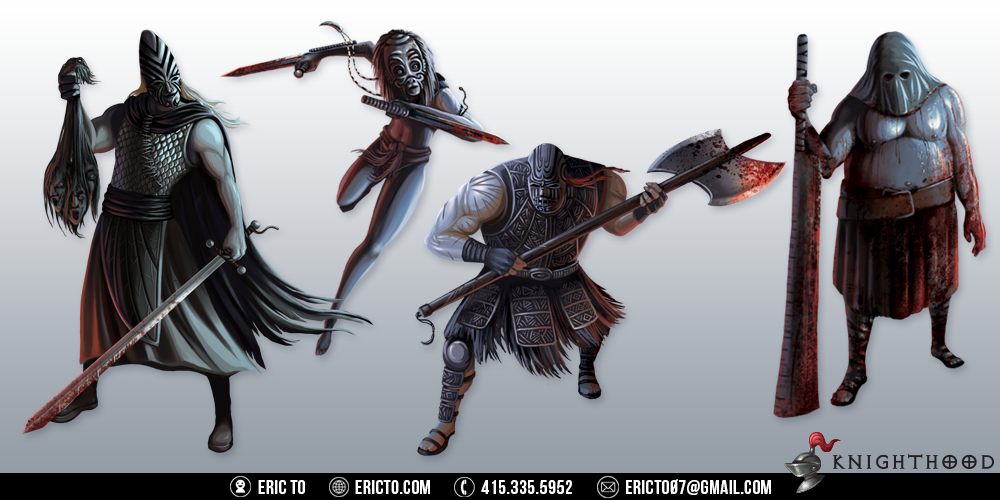 Final character concepts for villains.