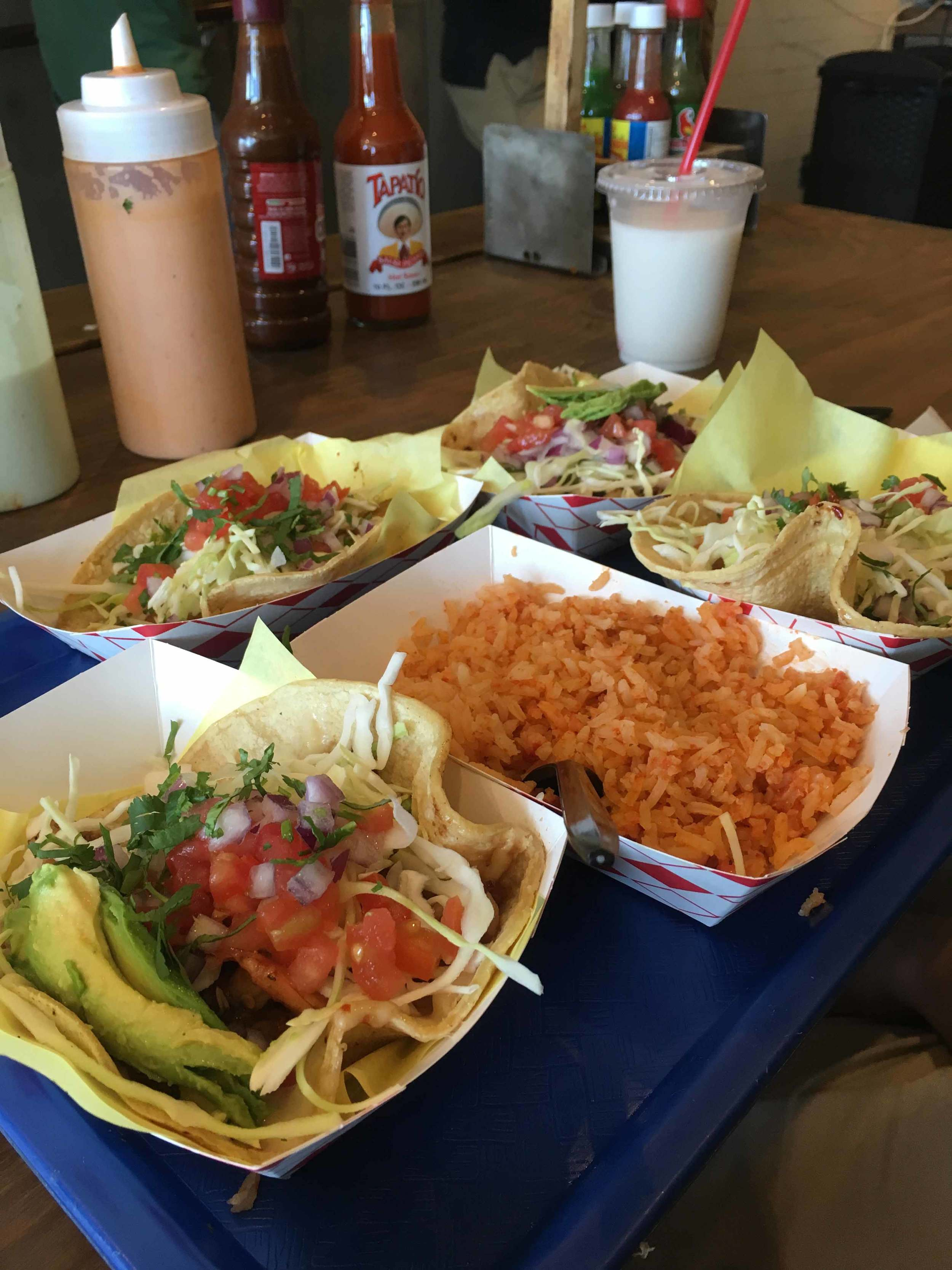 Our yummy tacos from  Oscar's Mexican Seafood