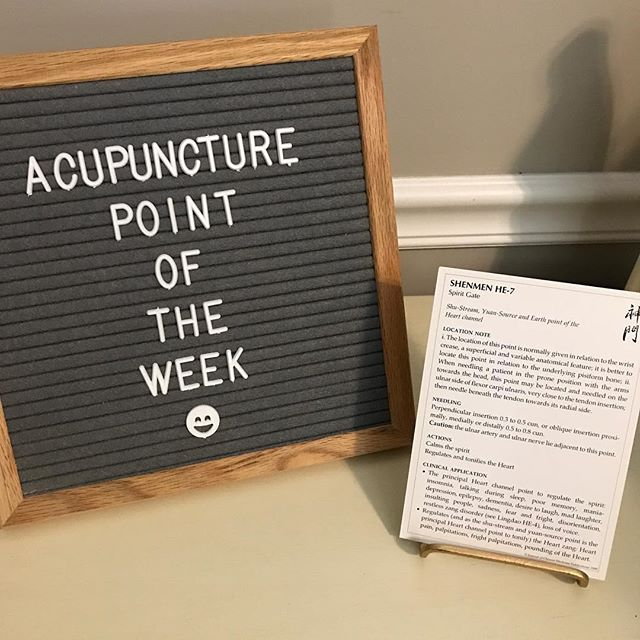 Ever wanted to learn more about what the acupuncture points do? Check out my featured point this week, Shenmen (Spirit Gate), next time you're here for your treatment!