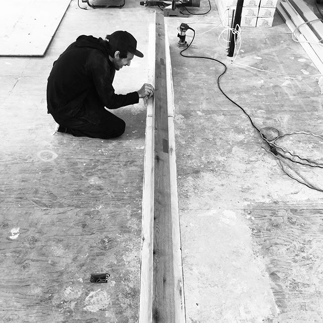 It's all in the fine details with custom work. Fabricating a huge nosing here.  #details #custom #vancouverflooring