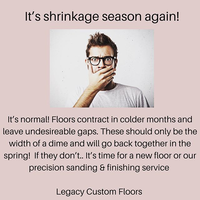 "As per National Wood Flooring Association standards, seasonal contraction of floors should be approximately the width of a dime. If your floors are showing concerning ""shrinkage"" send us a picture for some free advice!  #flooringcontractor #northvancouver #westvancouver #interiordesign #vancouverdesigner"