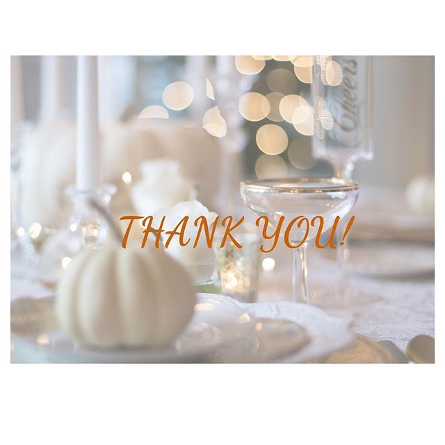 Happy Thanksgiving! Thank you to all of our first time & repeat customers!  #grateful