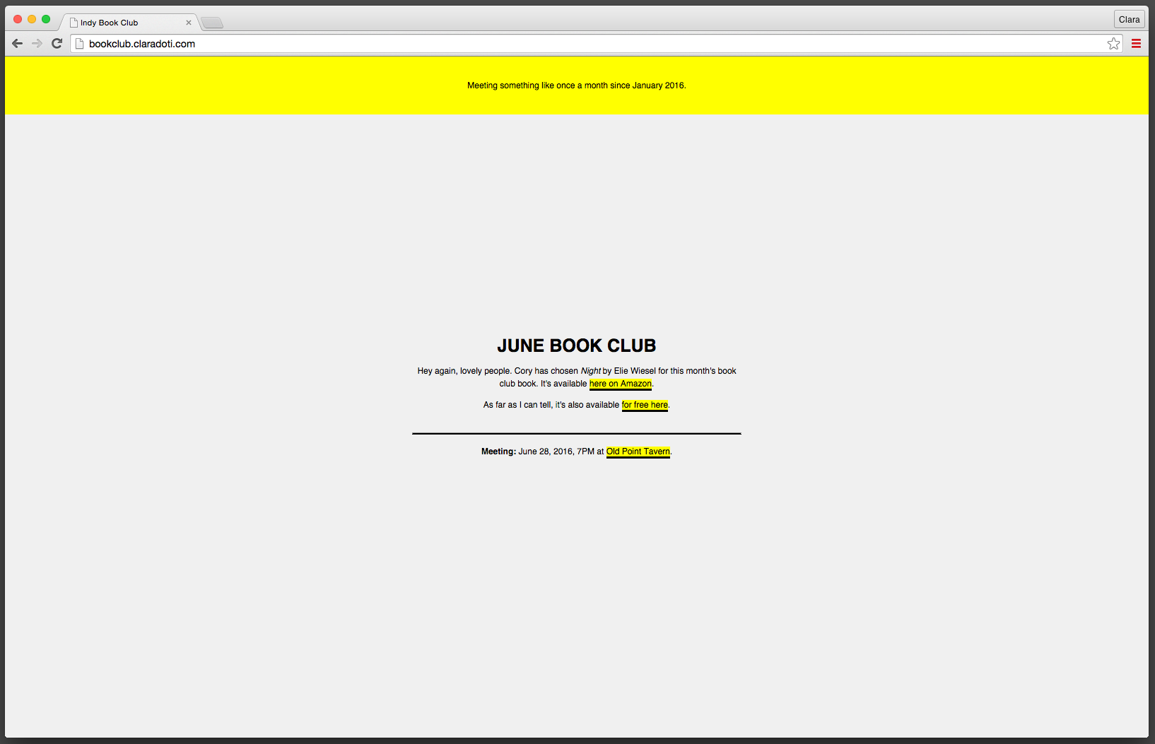 Book Club Design & Build