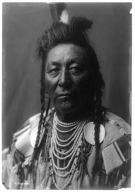 Chief Plenty Coups, Crow, photo by Edward Curtis