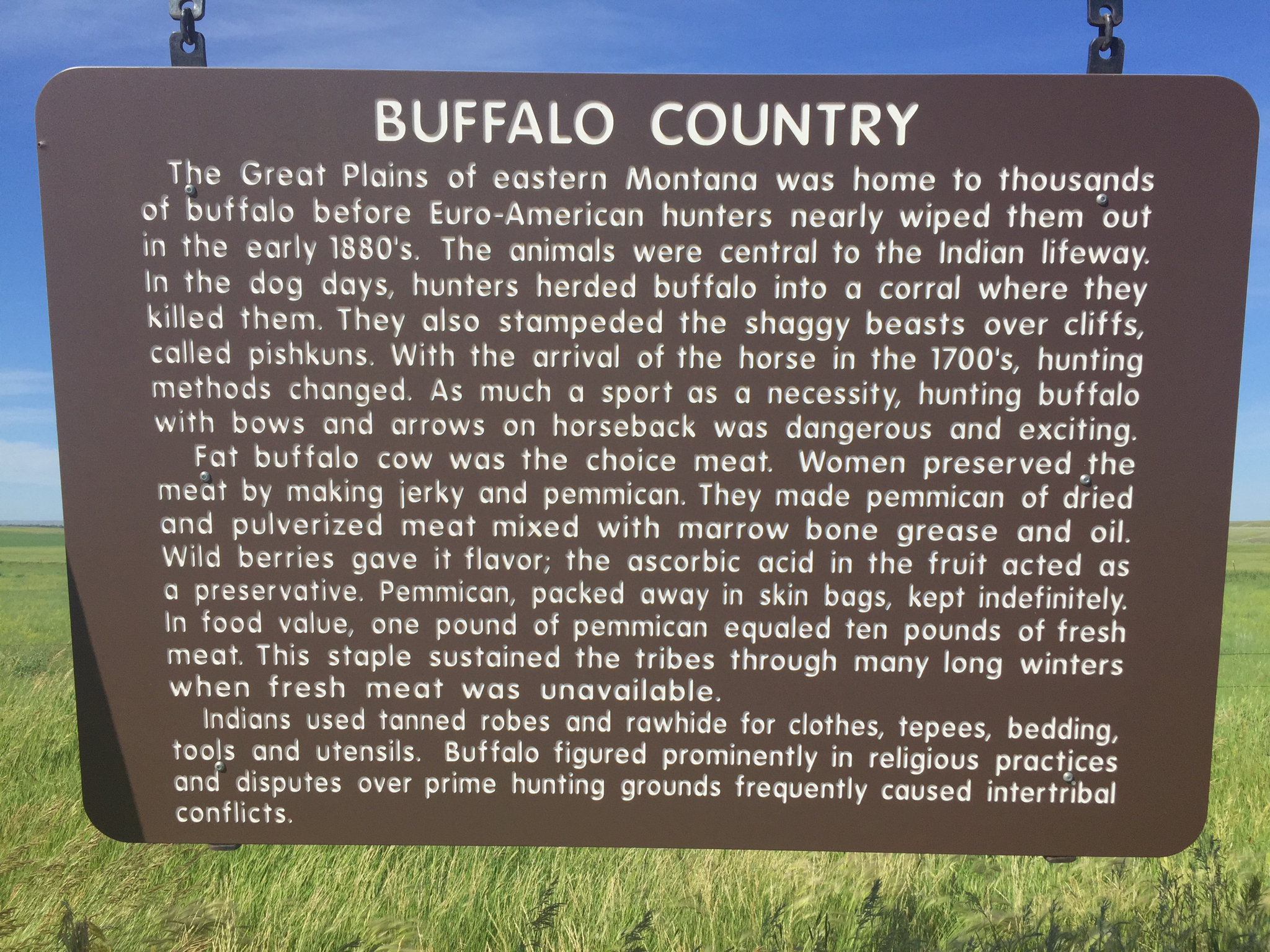 Roadside sign, Montana's Hi-Line