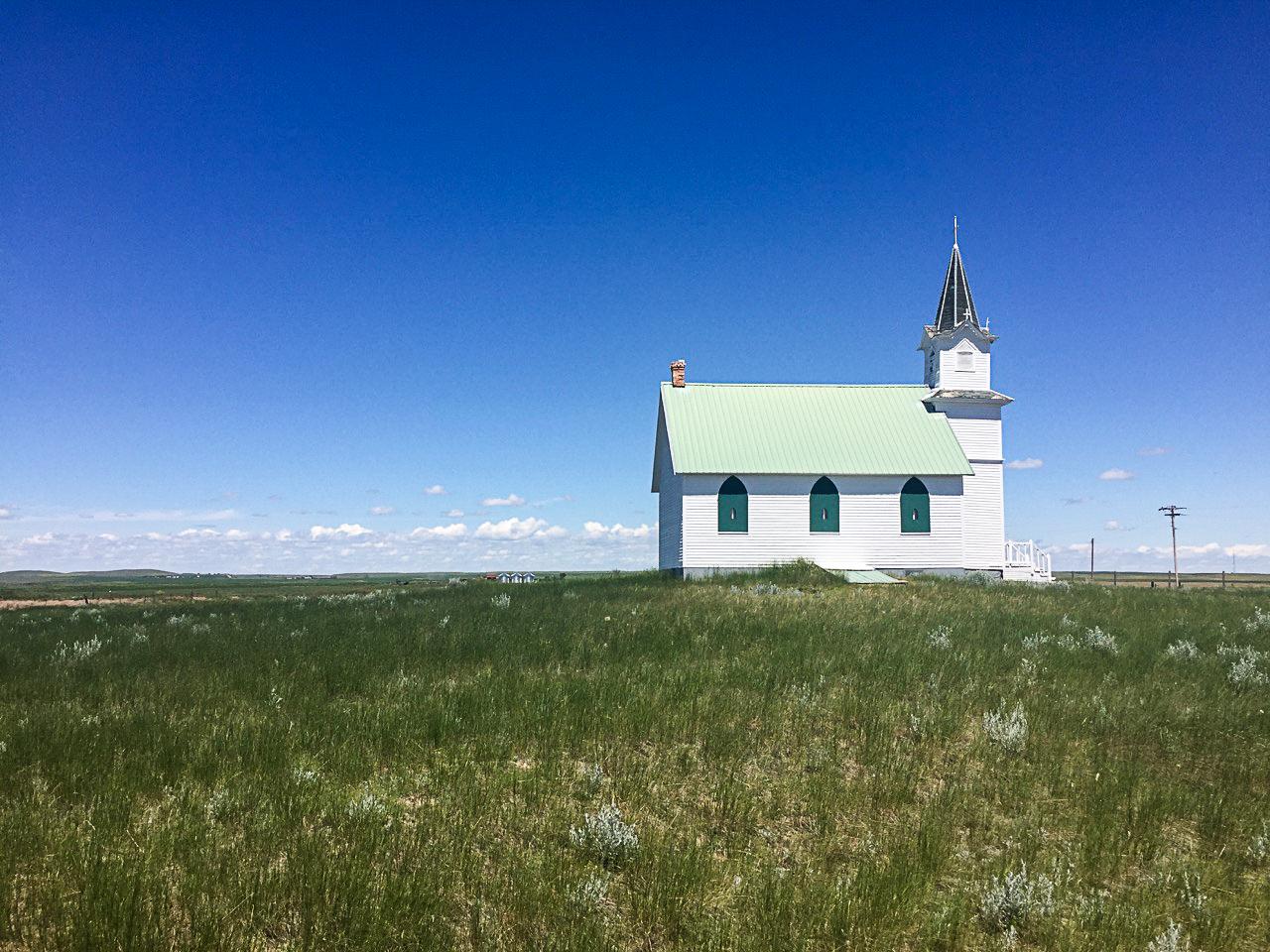 Scandia Lutheran Church near Malta, Montana