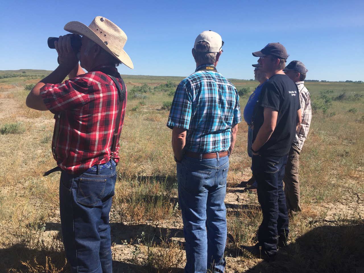 Commercial bison producers touring the APR