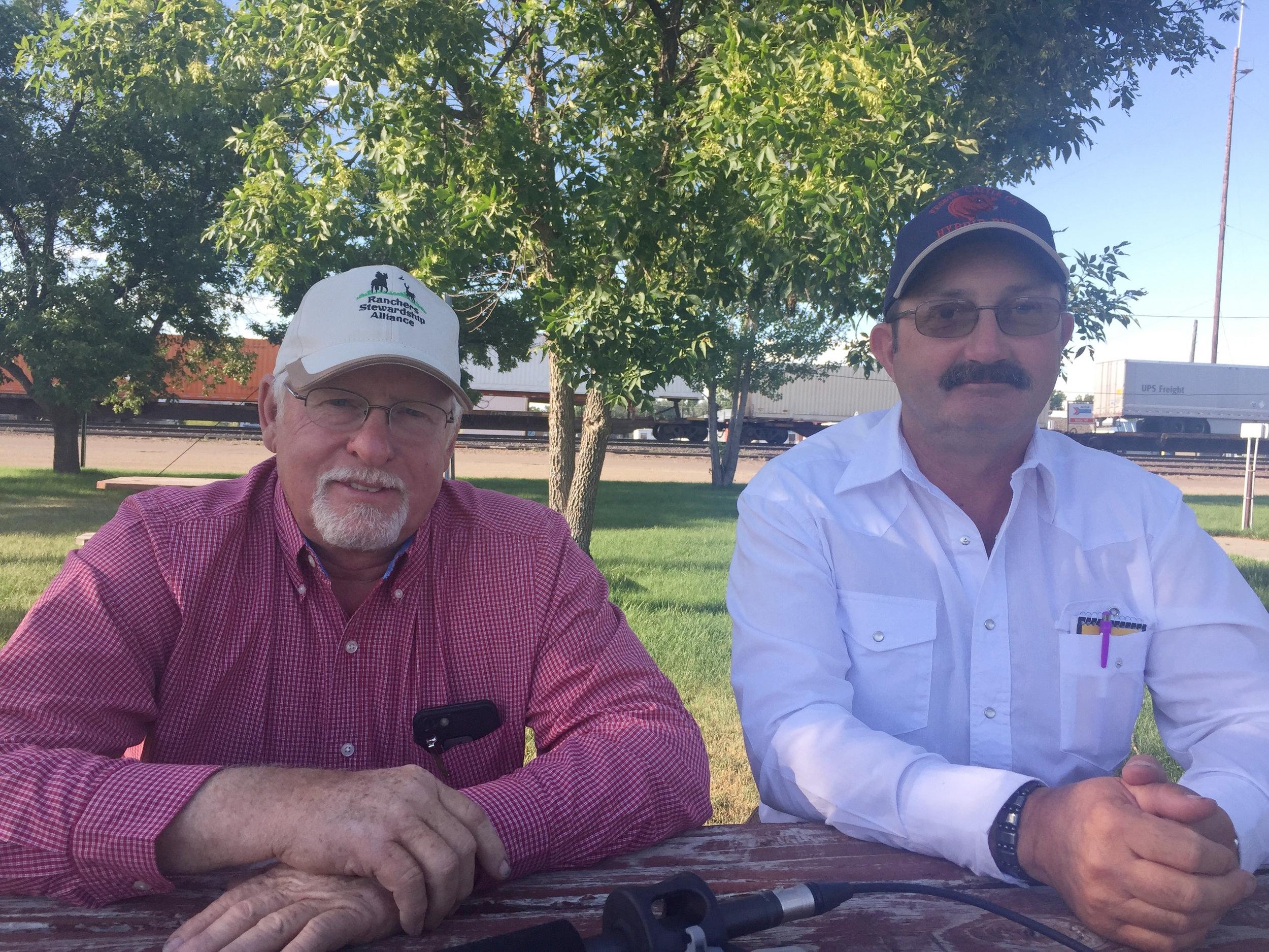 Leo Barthelmess and Dale Veseth, ranchers