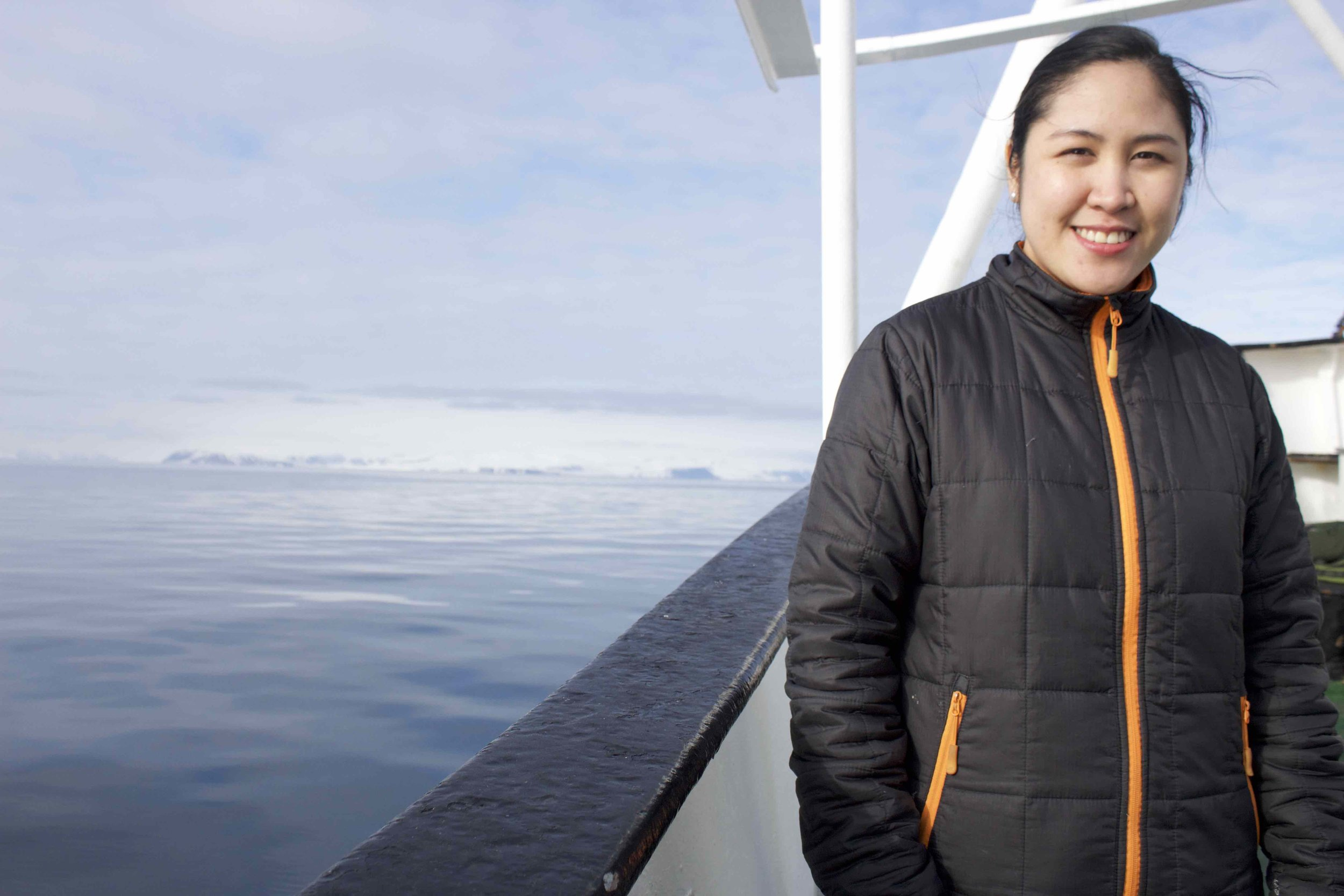 Mary Grace Eula travels north from the Philippines every year to work on a tourist boat in Svalbard, Norway. She is 24 years old and plans to start her own floating restaurant in her home country someday.