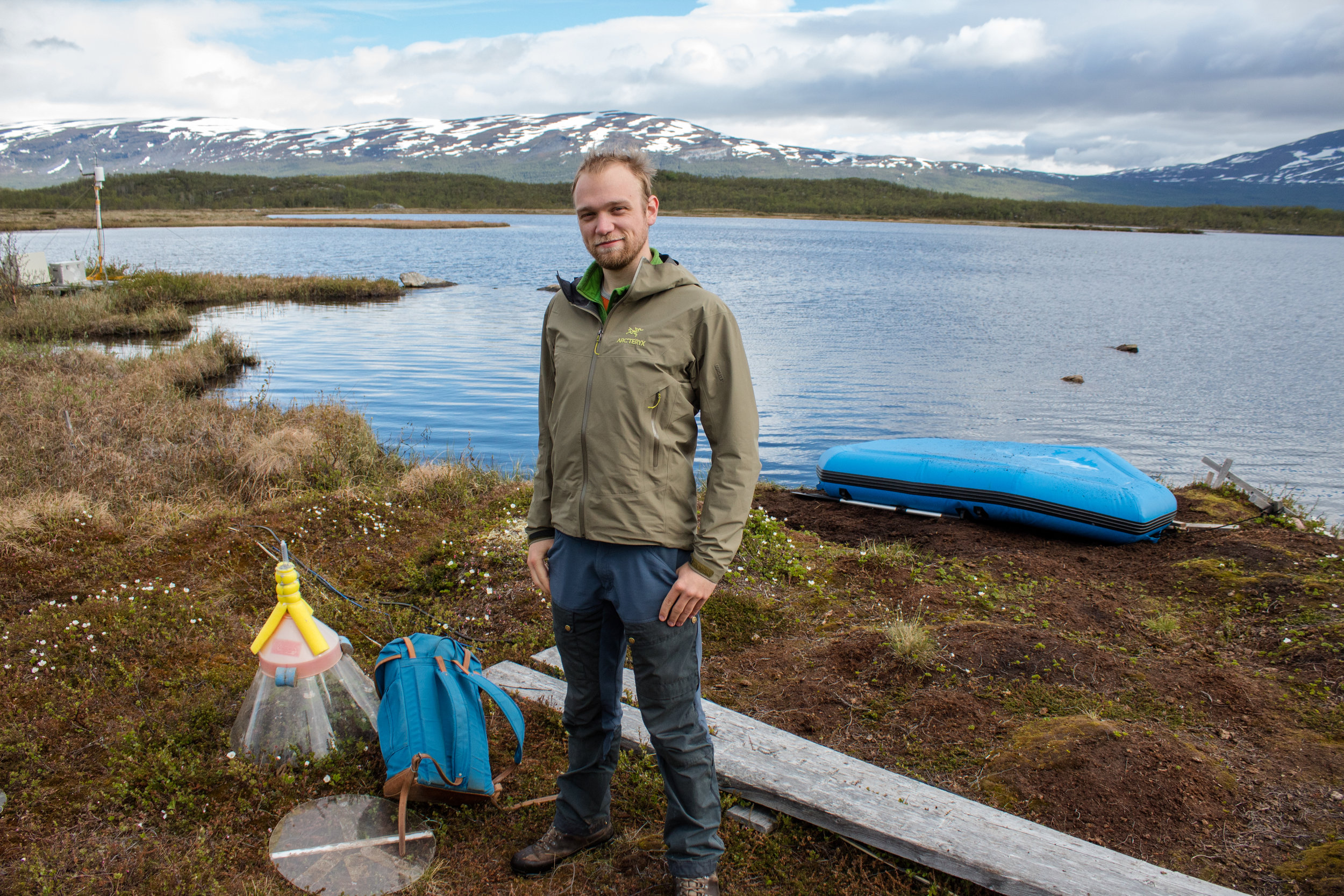 Joachim Jansen is a PhD student at Stockholm University who studies methane releases from Arctic lakes and wetlands.