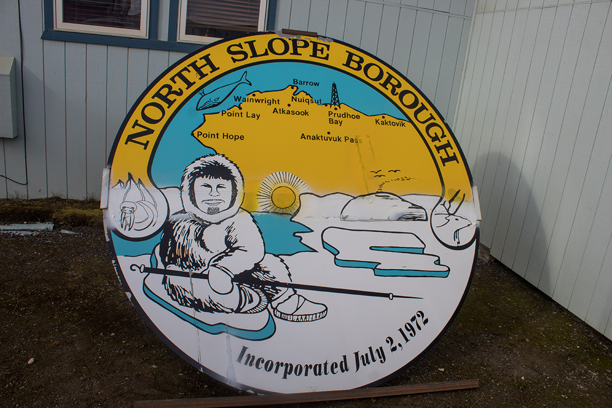 Sign for the North Slope Borough