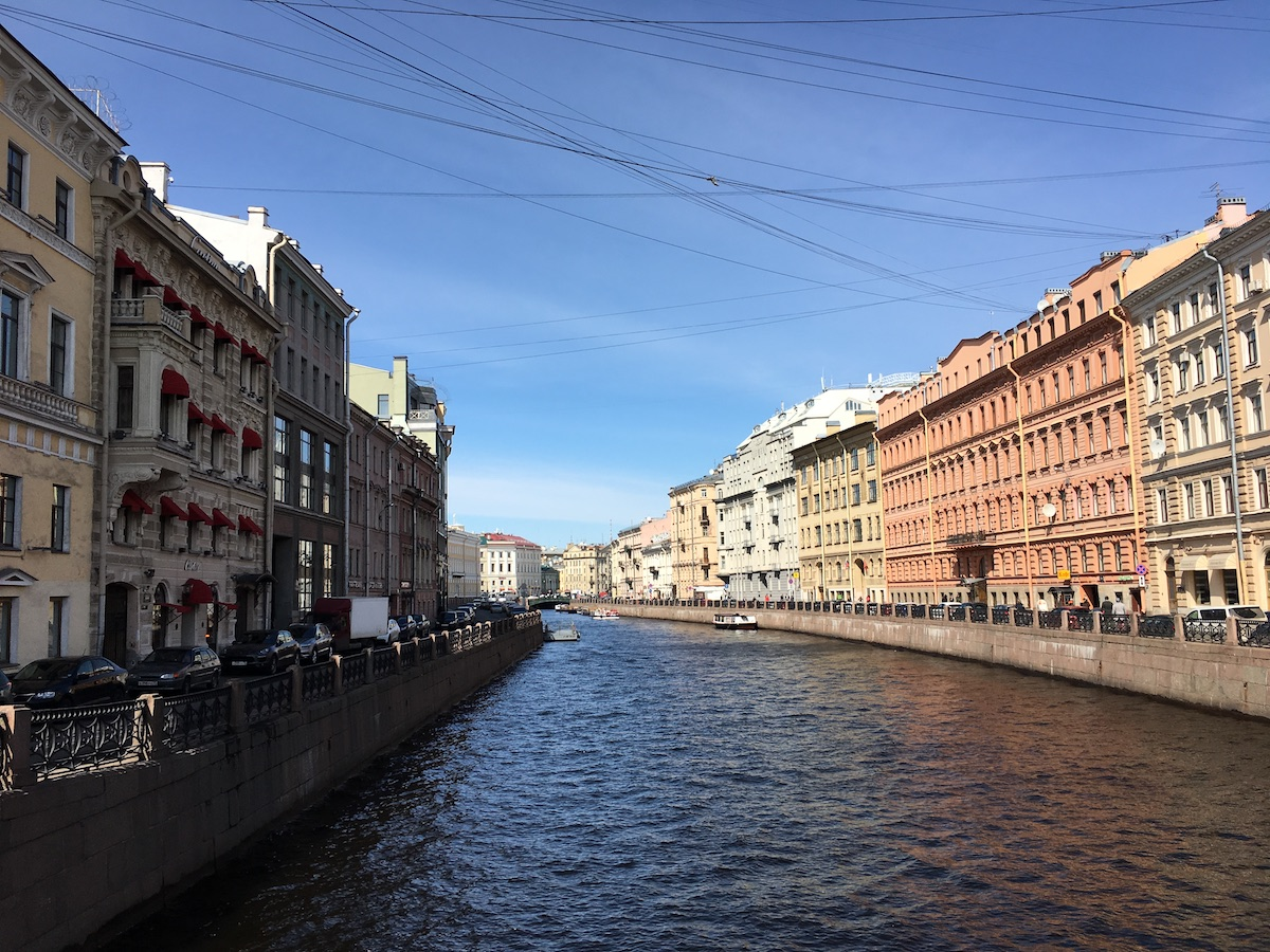 One of many historic streets in central St. Petersburg