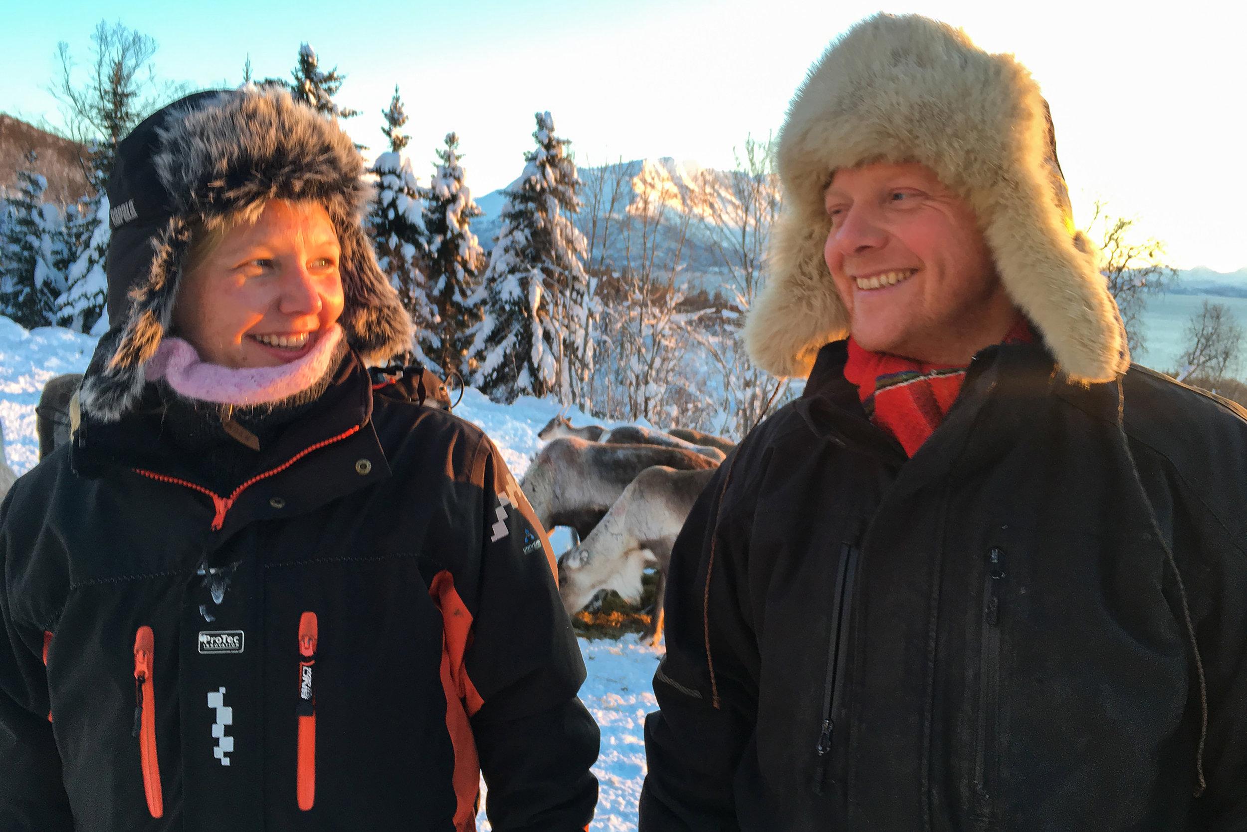 Reiulf Aleksandersen and family friend
