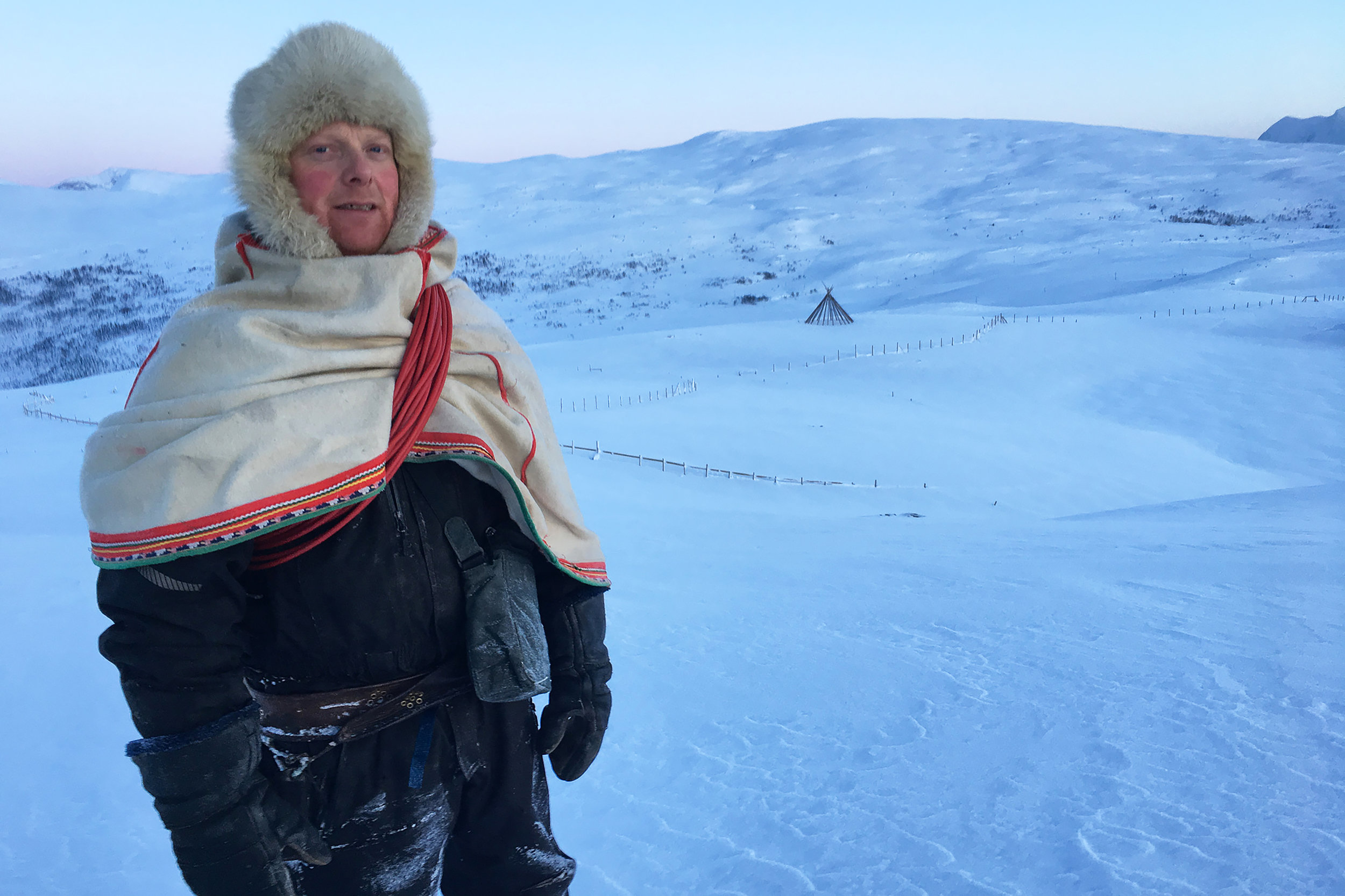 Reiulf Aleksandersen on his family's reindeer herding land