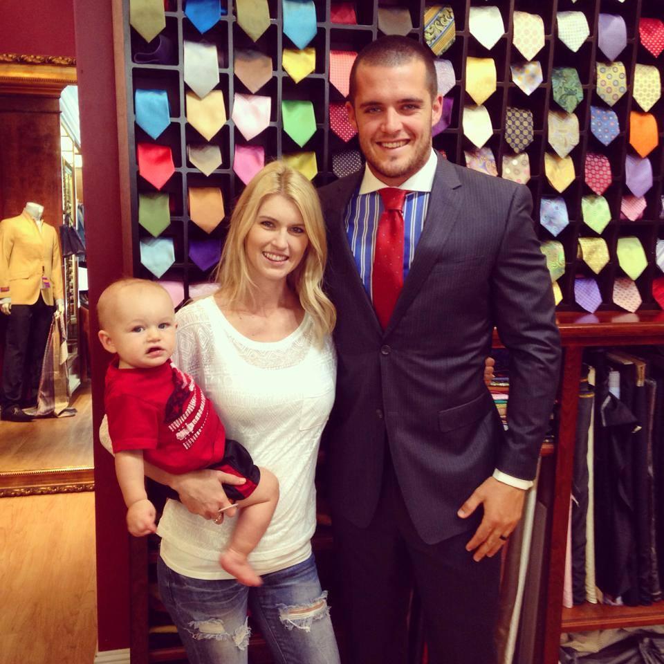 Raiders Football Star & Family