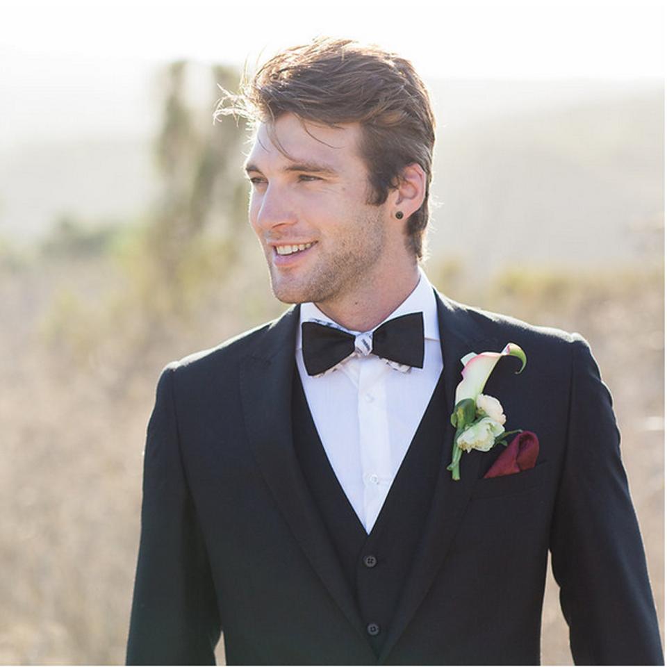 Custom Designed Wedding Suit & Bow Tie