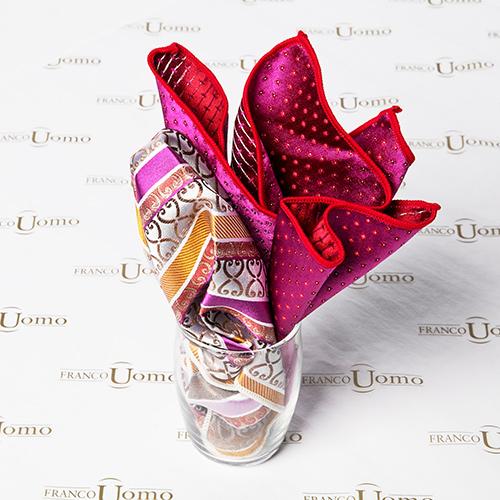 Woven Silk Pattern Luxury Silk Pocket Squares - Franco Uomo