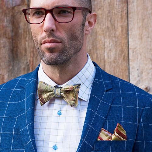 Luxury Woven Silk Pocket Square and Bow Tie - Franco Uomo