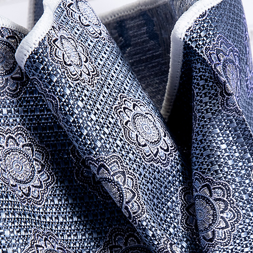 Blue Pattern Luxury Silk Pocket Square - Franco Uomo